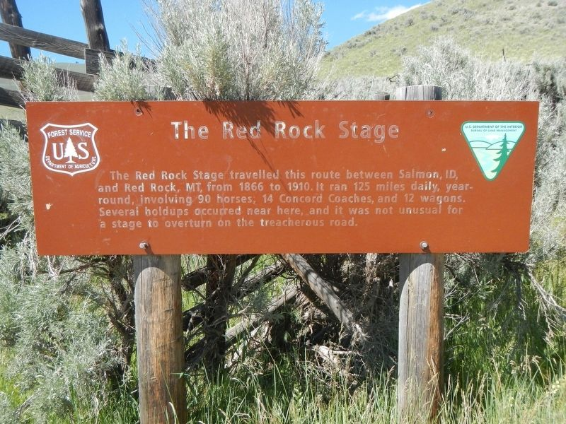 The Red Rock Stage Marker image. Click for full size.