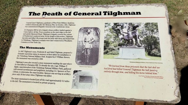 The Death of General Tilghman Marker on the grounds of the Coker House. image. Click for full size.