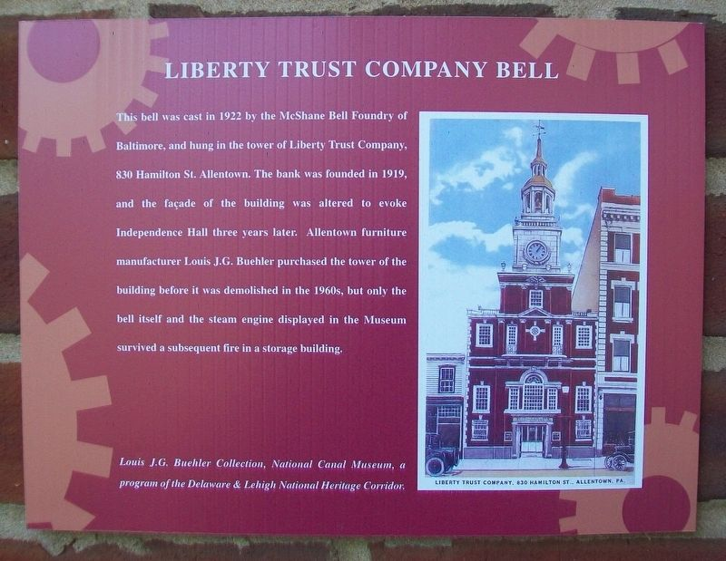 Liberty Trust Company Bell Marker image. Click for full size.