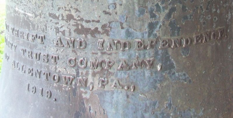 Liberty Trust Company Bell Inscription image. Click for full size.