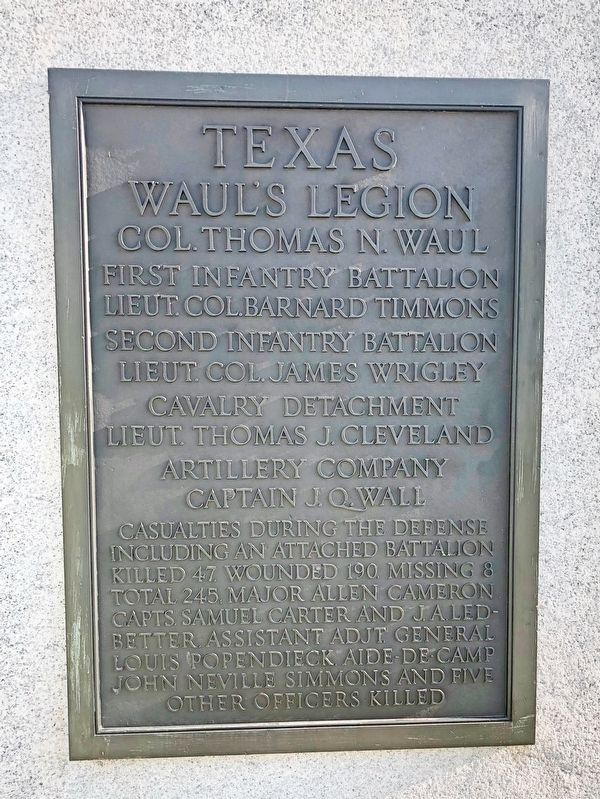 Texas Waul's Legion Marker image. Click for full size.