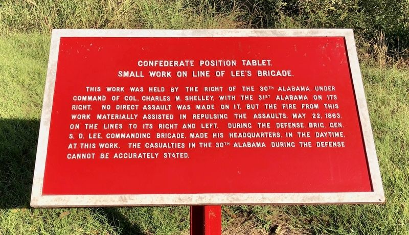 Small Work on Line of Lee's Brigade. Marker image. Click for full size.