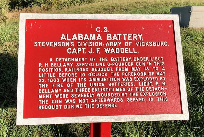 <small>C.S.</small> Alabama Battery Marker image. Click for full size.