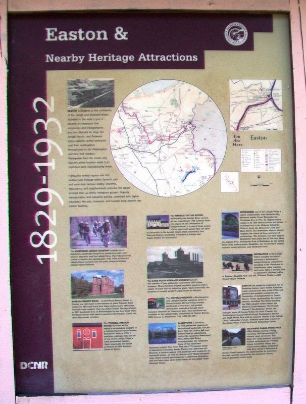 Easton & Nearby Heritage Attractions Marker image. Click for full size.