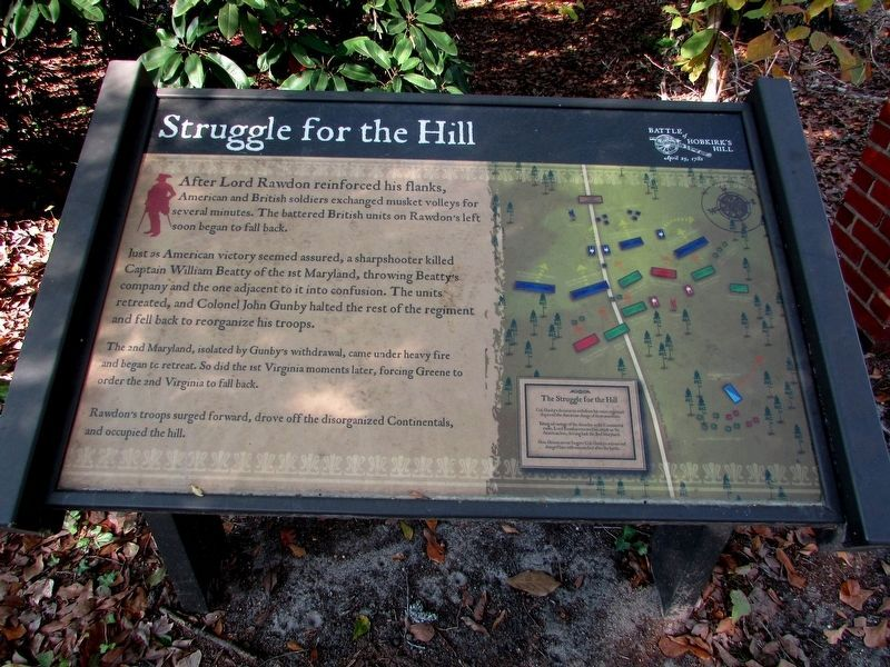 Struggle for the Hill Marker image. Click for full size.