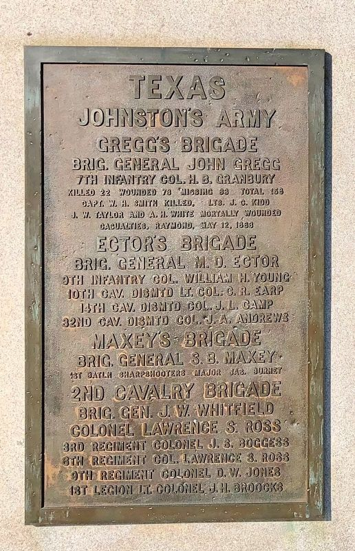 Texas Johnston's Army Marker image. Click for full size.