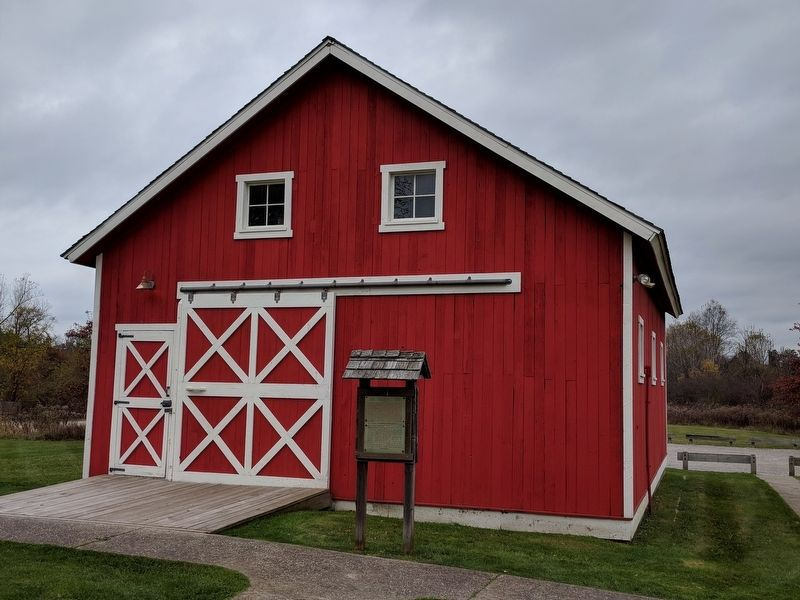 The Flumerfelt Barn and Marker image. Click for full size.