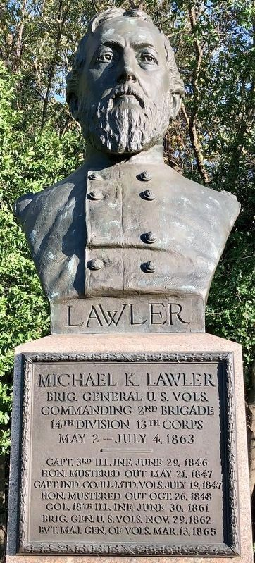 Michael K. Lawler Statue image. Click for full size.