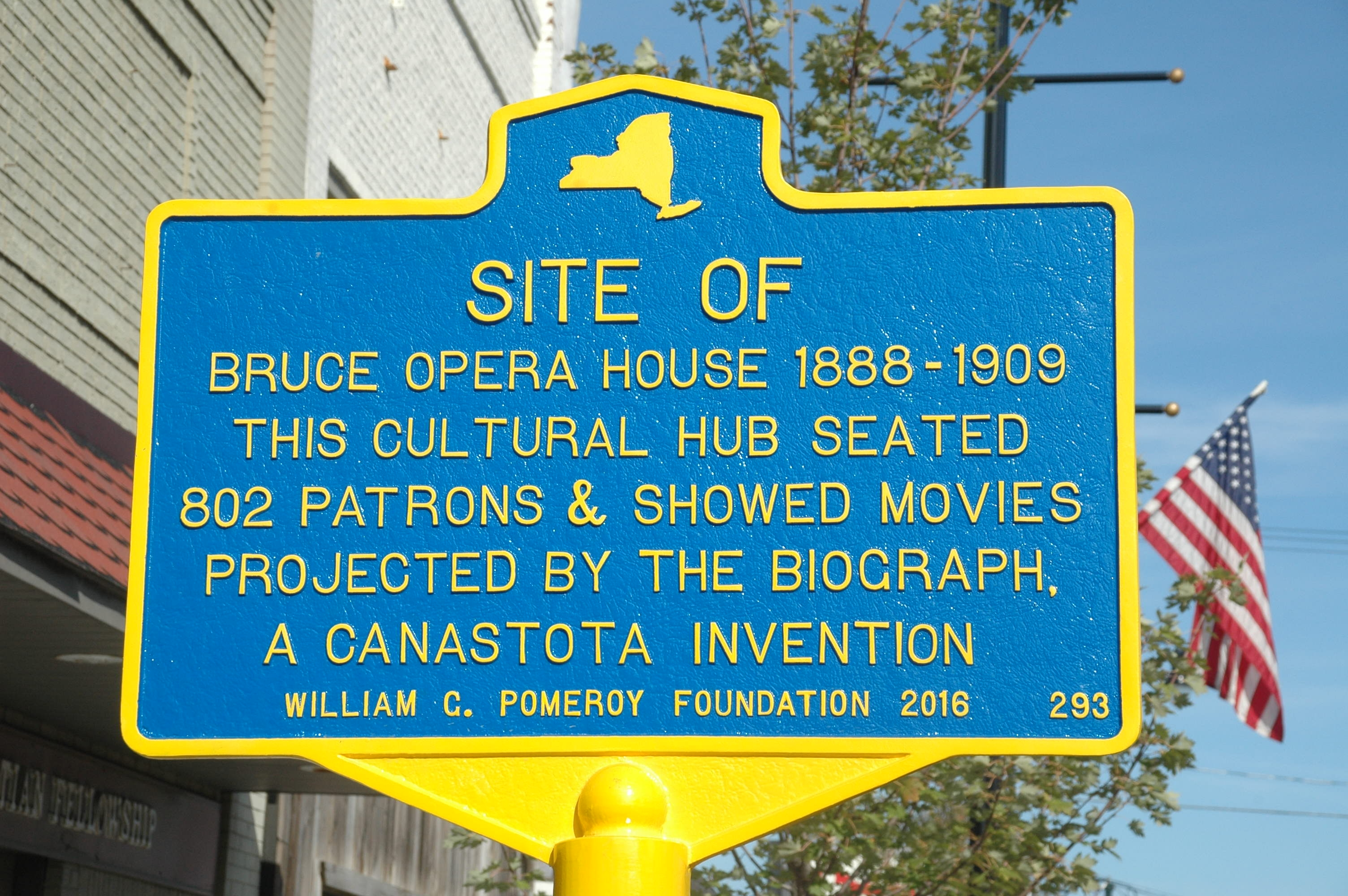 Site of Bruce Opera House Marker