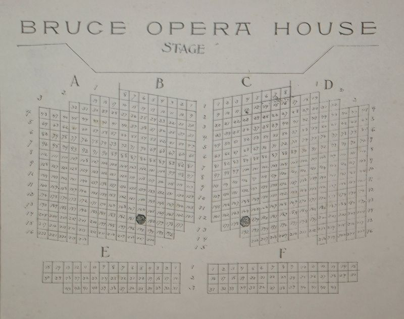 Bruce Opera House Seating image. Click for full size.