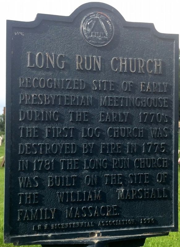 Long Run Church Marker image. Click for full size.