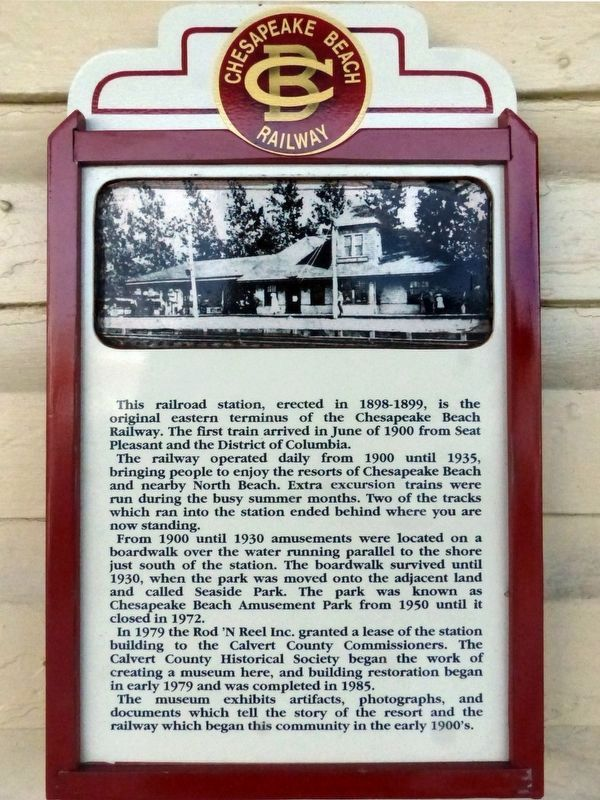 Chesapeake Beach Railway Station Marker image. Click for full size.