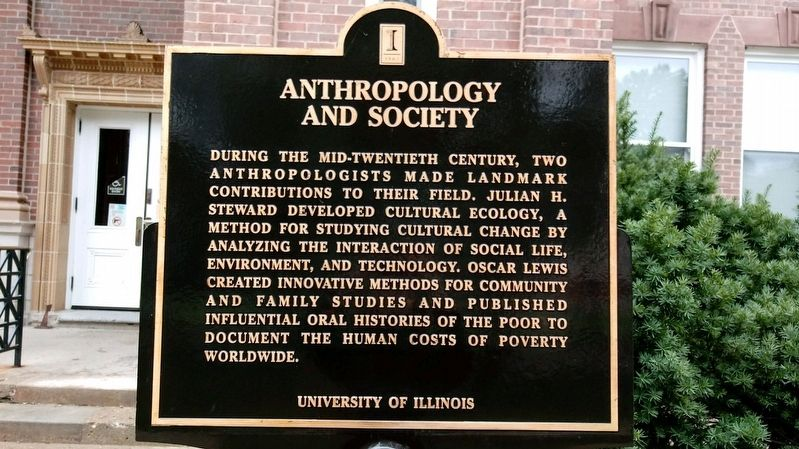 Anthropology and Society Marker image. Click for full size.