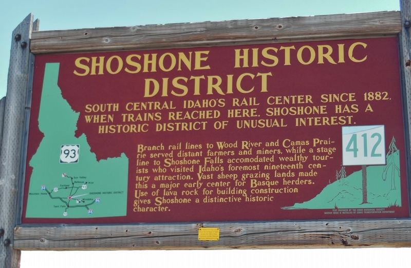 Shoshone Historic District Marker image. Click for full size.