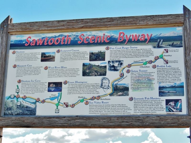 Sawtooth Scenic Byway Marker image. Click for full size.
