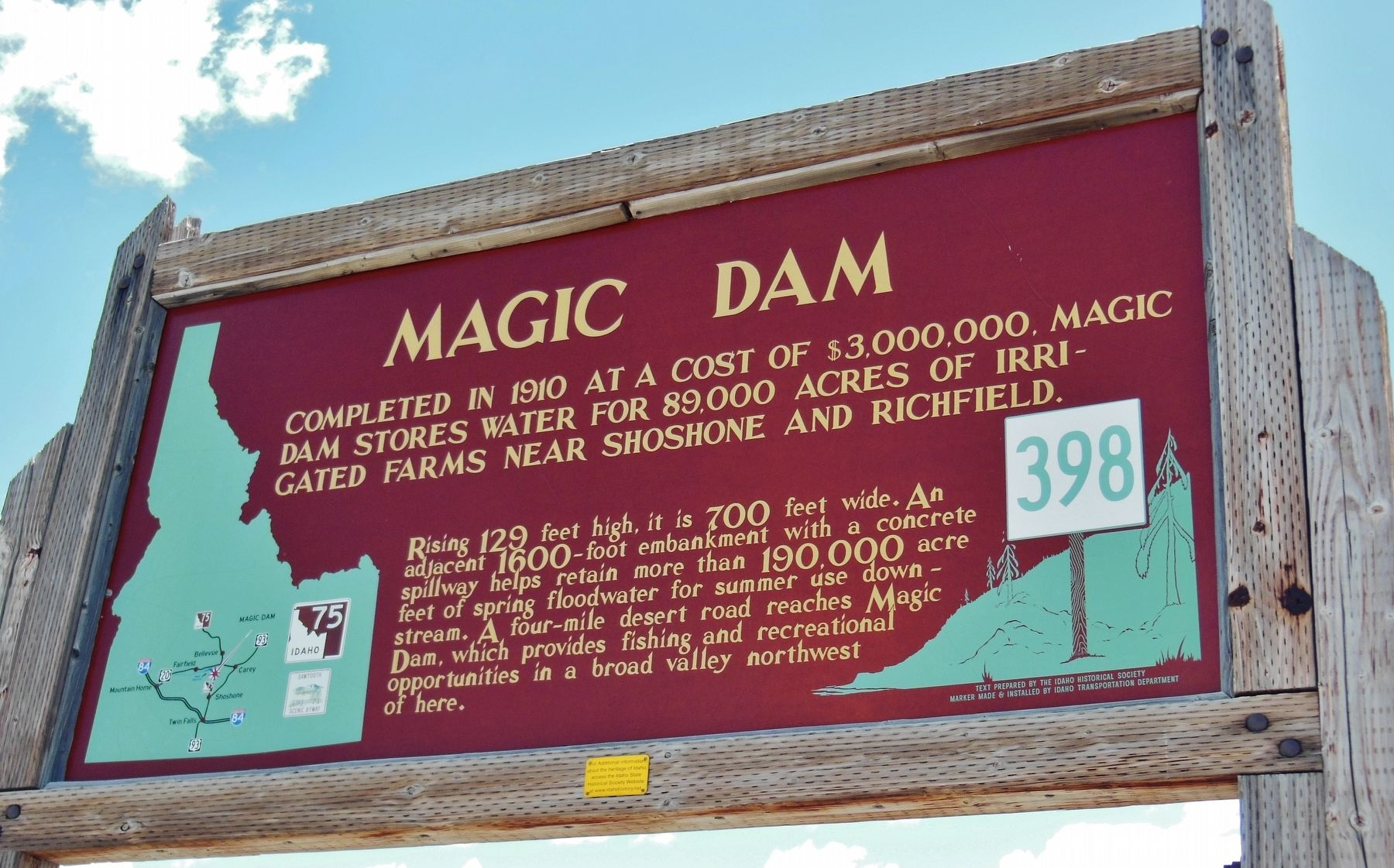 Magic Dam Marker image. Click for full size.