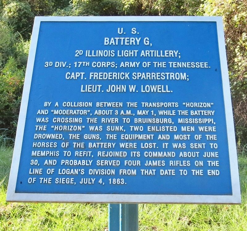 <small>U.S.</small> Battery G, Marker image. Click for full size.