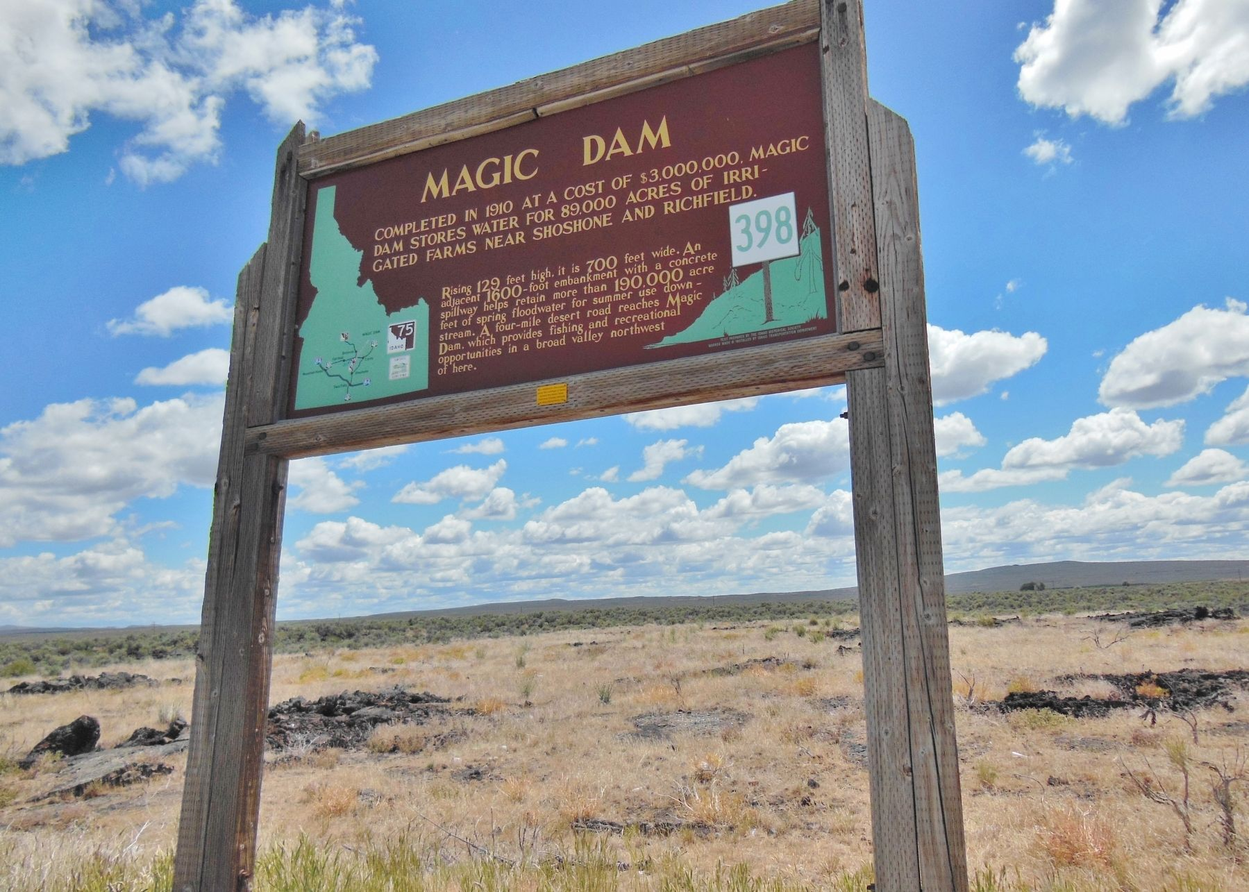 Magic Dam Marker (<i>wide view</i>) image. Click for full size.