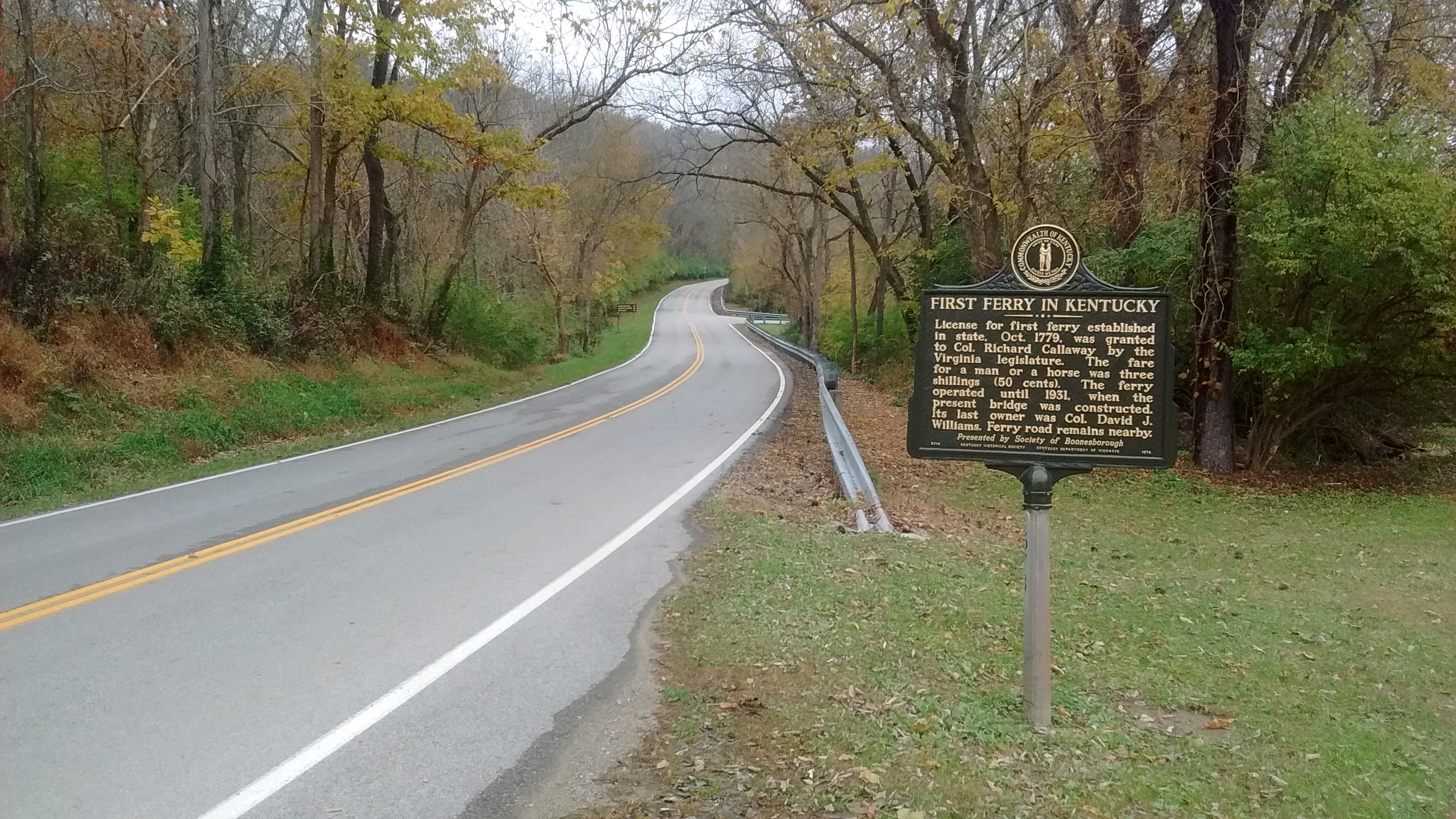 First Ferry in Kentucky Marker