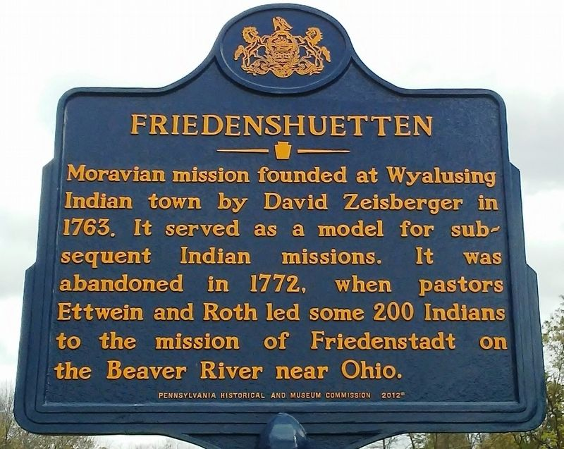 Friedenshuetten Marker image. Click for full size.