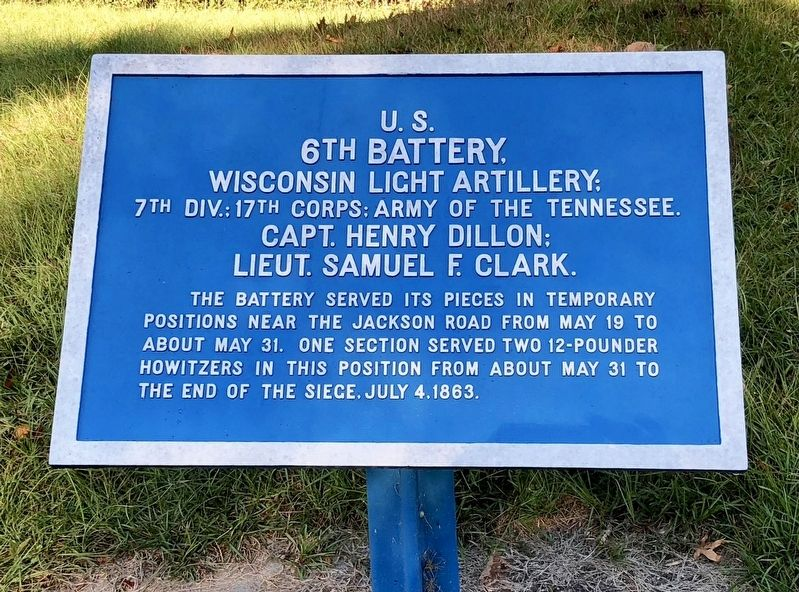 <small>U.S.</small> 6th Battery, Marker image. Click for full size.