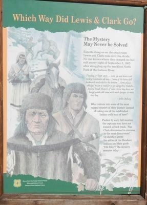 Which Way Did Lewis & Clark Go? Marker image. Click for full size.