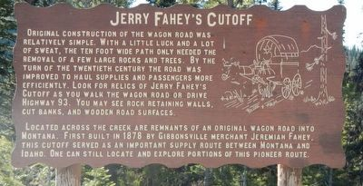 Jerry Fahey's Cutoff Marker image. Click for full size.