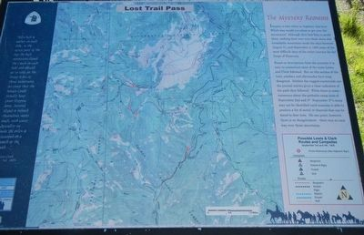Lost Trail Pass Marker image. Click for full size.