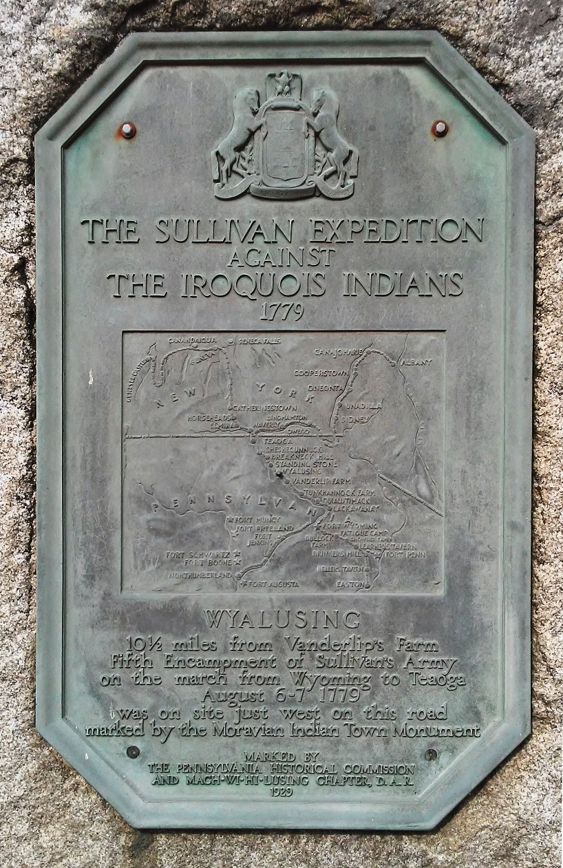 Sullivan Expedition Against the Iroquois Indians 1779 Marker
