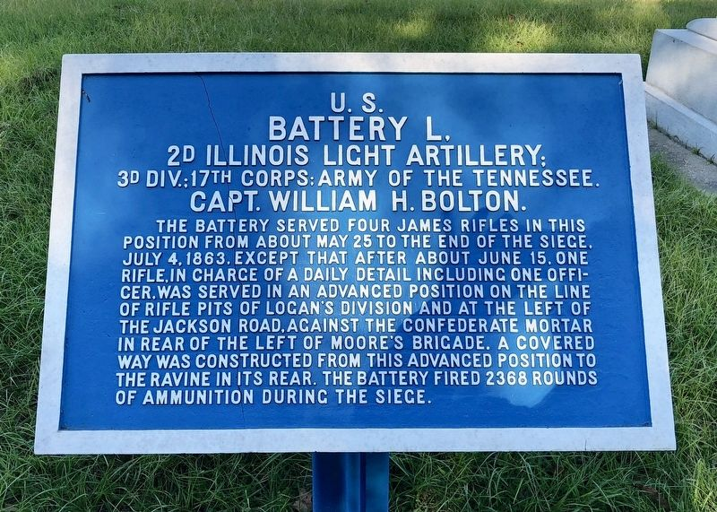 <small>U.S.</small> Battery L. Marker image. Click for full size.