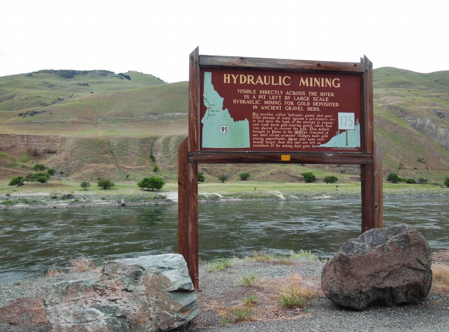 Hydraulic Mining Marker (<i>wide view</i>) image. Click for full size.