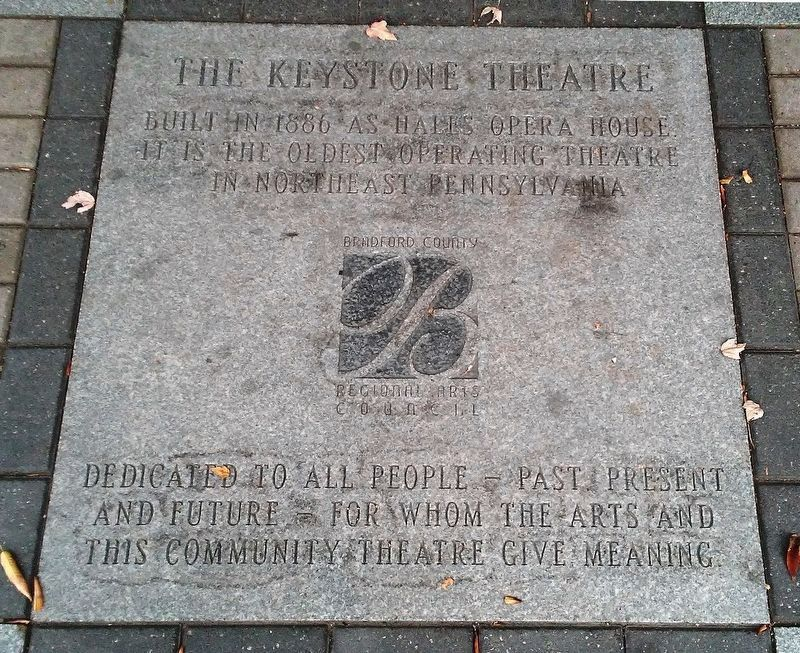 The Keystone Theatre Marker image. Click for full size.