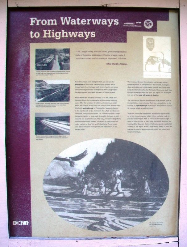 From Waterways to Highways Marker image. Click for full size.