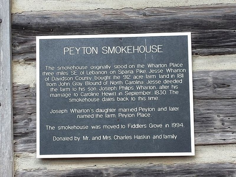 Peyton Smokehouse Marker image. Click for full size.