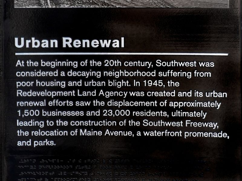 Urban Renewal Marker image. Click for full size.