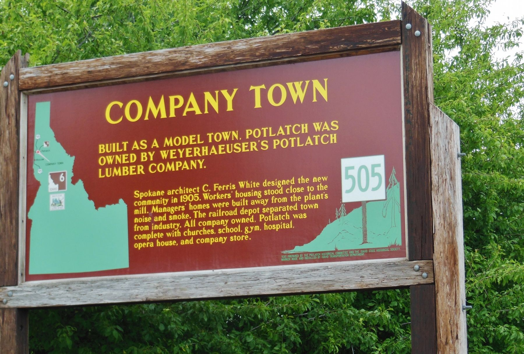 Company Town Marker image. Click for full size.