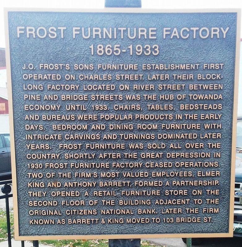 Frost's Furniture Factory Marker image. Click for full size.
