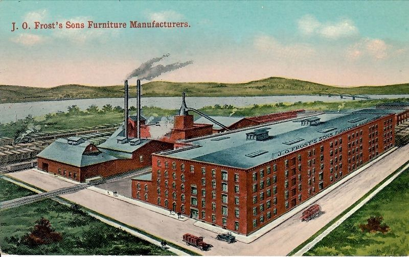 Frost's Furniture Factory Historic Postcard image. Click for full size.