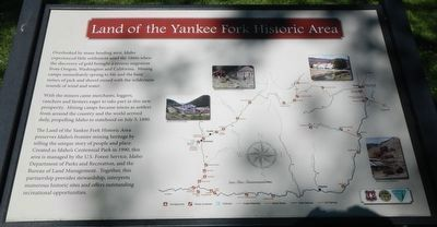 Land of the Yankee Fork Historic Area Marker image. Click for full size.