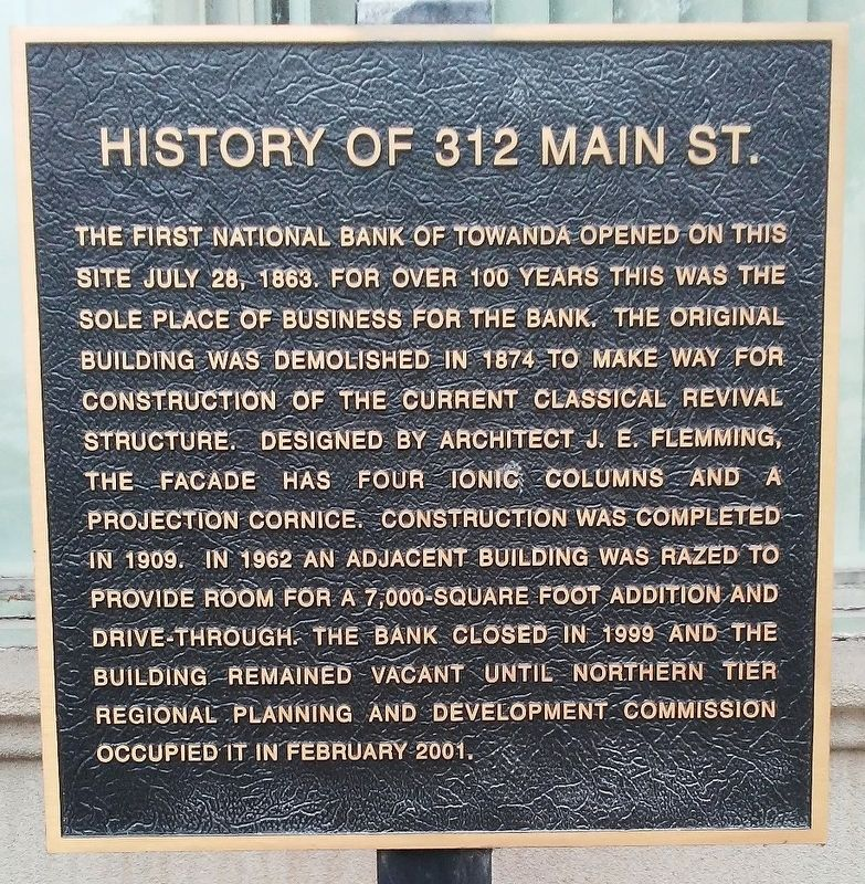 History of 312 Main St. Marker image. Click for full size.
