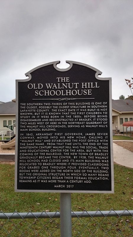 The Old Walnut Hill Schoolhouse Marker image. Click for full size.
