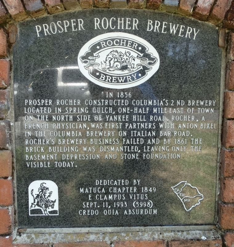 Prosper Rocher Brewery Marker image. Click for full size.