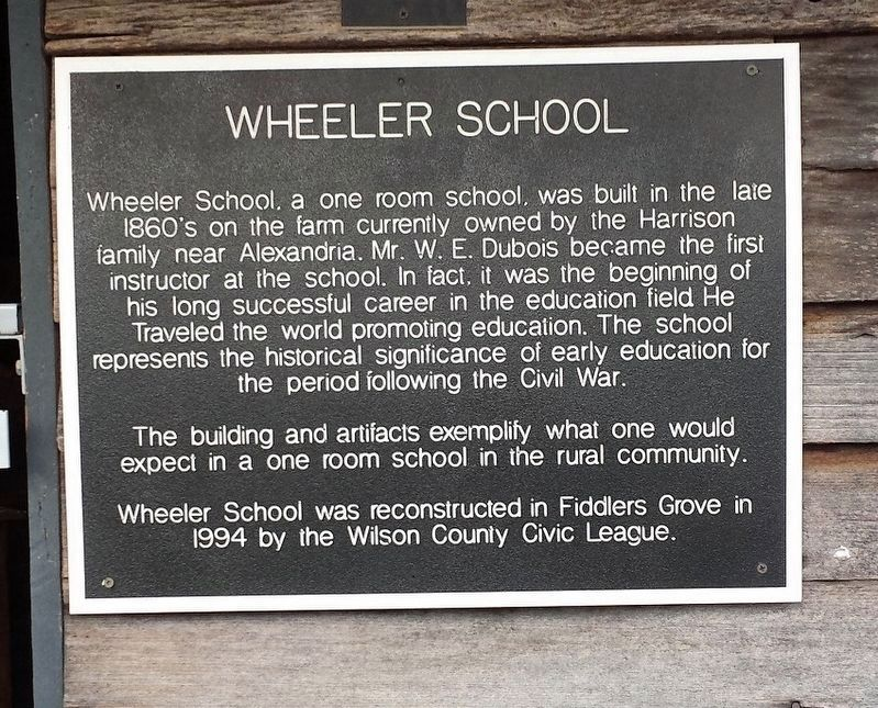 Wheeler School Marker image. Click for full size.