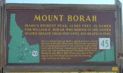 Mount Borah Marker image. Click for full size.