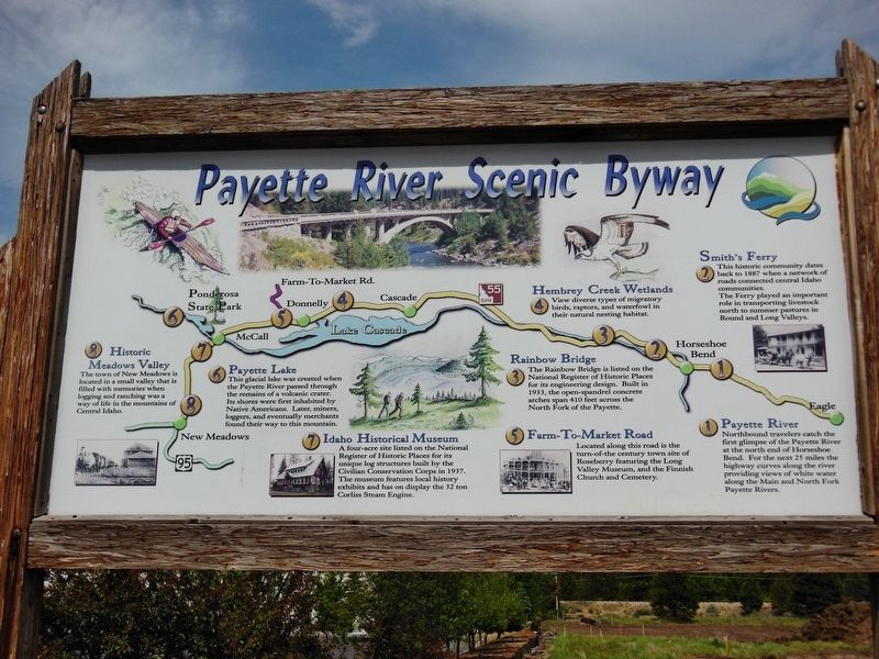 Payette River Scenic Byway Marker image. Click for full size.