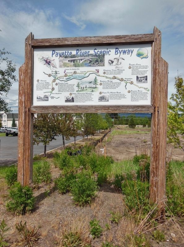 Payette River Scenic Byway Marker (<i>tall view</i>) image. Click for full size.
