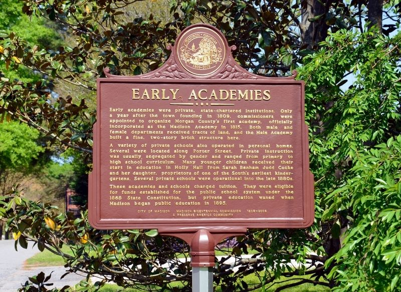 Early Academies Marker image. Click for full size.