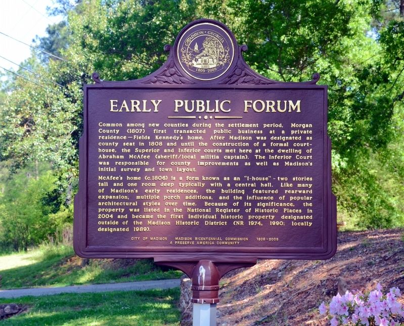Early Public Forum Marker image. Click for full size.