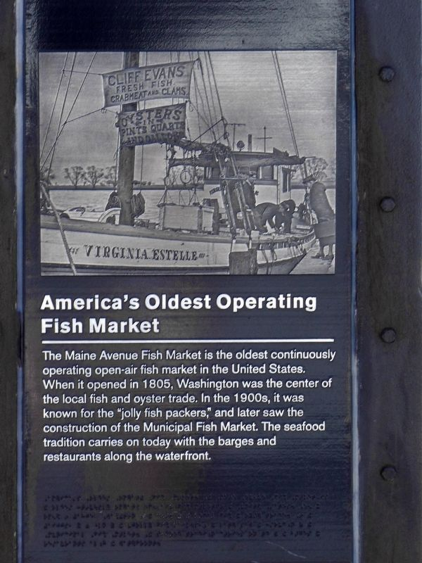 America's Oldest Operating Fish Market Marker image. Click for full size.