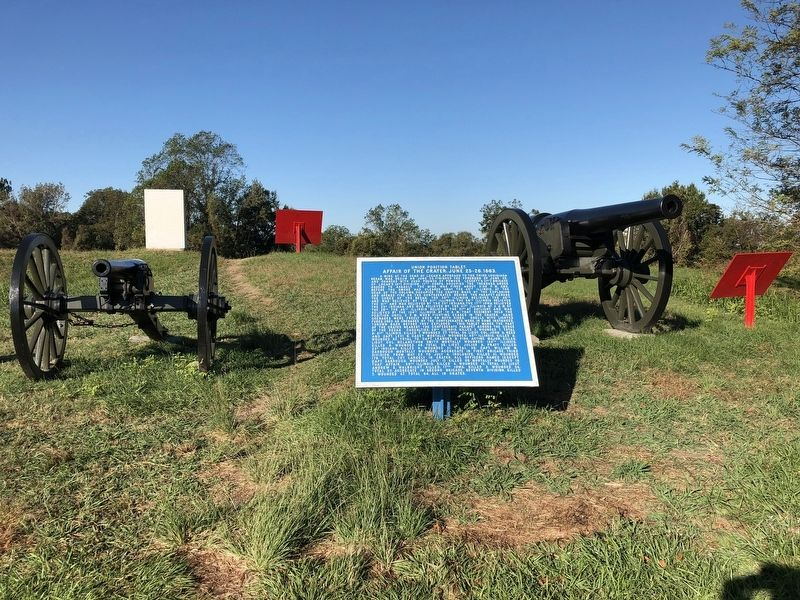 Marker located atop the Third Louisiana Redan. image. Click for full size.